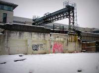 Wintry Grafitti in Cardiff