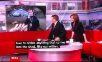 Willy Nibbling on BBC Breakfast