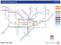 Cardiff Underground Map