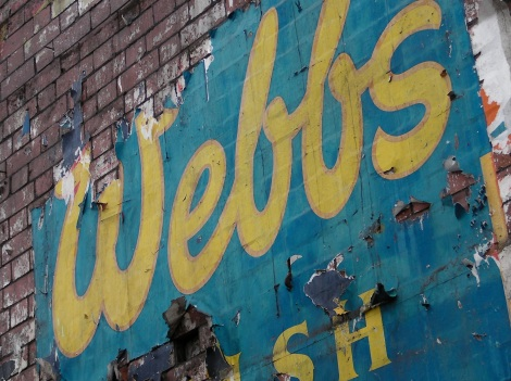 Webbs Welsh Ales sign unearthed in Canton