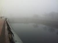 Cardiff in Fog