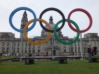 Cardiffs Giant Olympic Rings