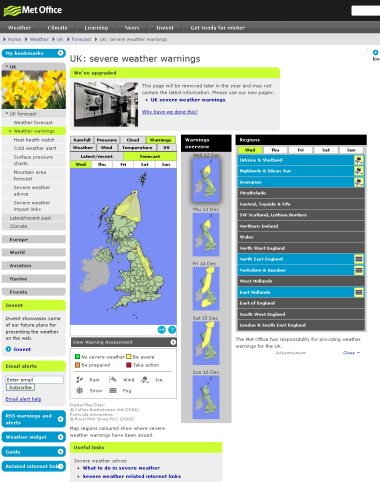 Met Office Forecast Dec 2012