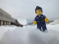 Lego minifigures in snow