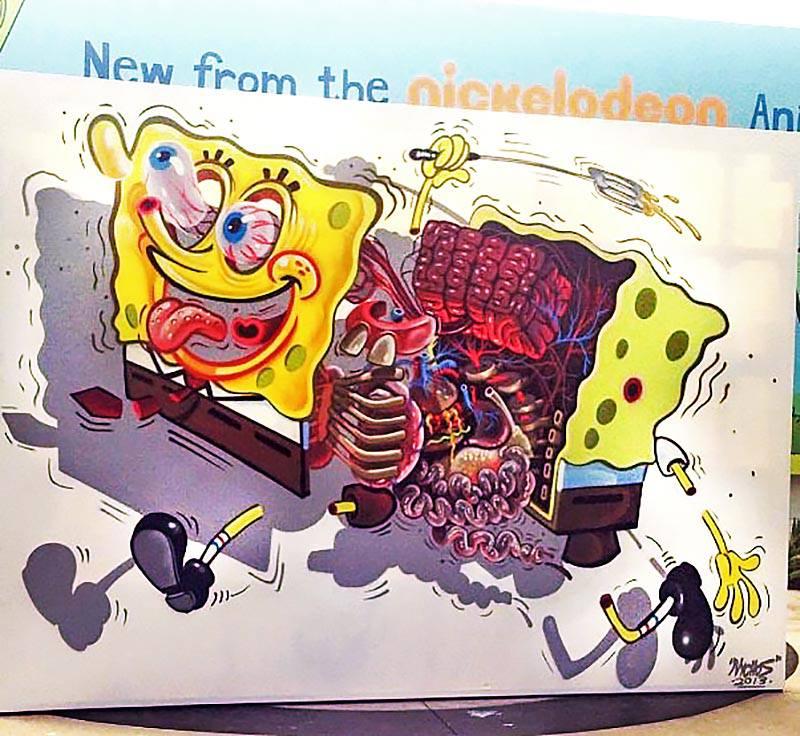 STREET ART – Sponge bob Squarepants