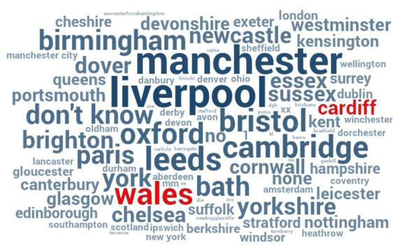 1000 cities survery cardiff wales