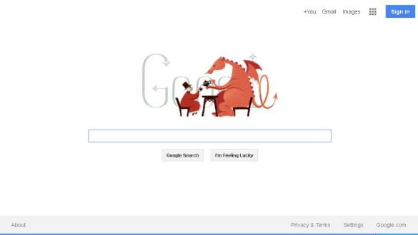 google homepage st davids day 2014