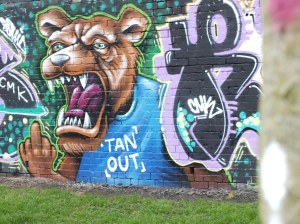anti vincent tan street art cardiff lion